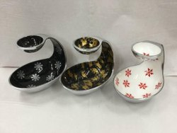 Metal Snacks chutney bowl, For Home, Shape: Oval