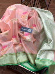 Banarasi Tissue Minakari Silk Sarees