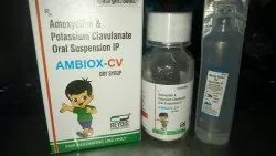 1-5 Years Ambiox cv dry syrup, Packaging Size: Glass Bottle With Water, Td