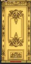 Polished Pine wood Door waterproof with golden coating, Wooden, Thickness: 35mm