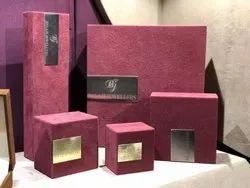 Rectangle Red Suead jewellery box