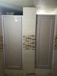 Slide & Fold Coated Pvc Door, For Bathroom, Interior