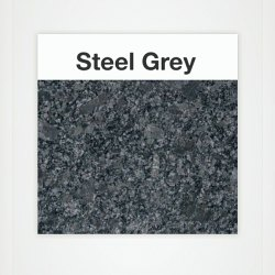 Polished Steel Grey Granite Slab, Rectangular, Thickness: 20 Mm