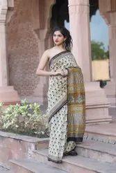 Silj Chanderi Silk Saree, 6.40 M With Blouse