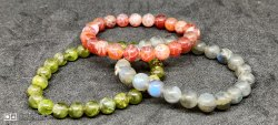 ALL MIXED NATURAL STONES BRACLETS