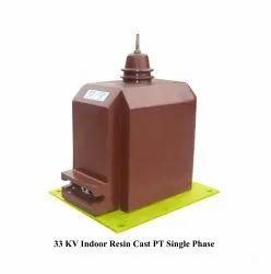1 Phase Copper 33kv Potential Transformer, 110 Vac, 36 Kv