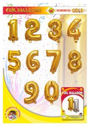 16 Number Golden Foil Balloon