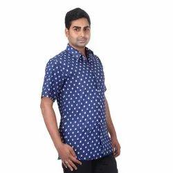 Multicolor Men's Sanganeri Cotton Print Shirts