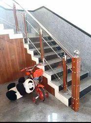 SSM44 Stainless Steel Glass Stair Railing