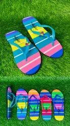 Rangoli Slippers Rubber Ladies Footwear, Size: 5*8
