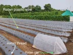 Ratan Plastic Low Tunnel Crop Cover Support Wire, Thread And Clip, For Agriculture