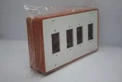 White Rectangular PVC Electrical Boxes, for Electric Fitting