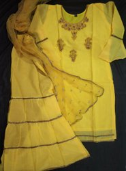 Chanderi Embroidered Women Clothing, Size: XL