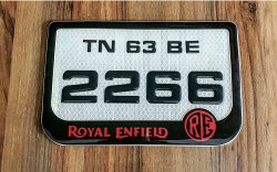 Gel Number Plates
