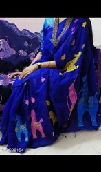 Handloom Cotton Silk Weaving Jamdani Sarees