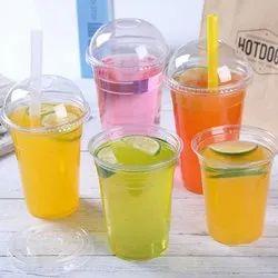 Transparent Plain Take Away Juice Glass, Size: 300ml