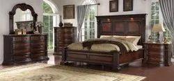 Sheesham Modern Wooden carving bedroom set