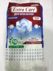 Extra Care Pant Style Diapers 50pcs Size: L