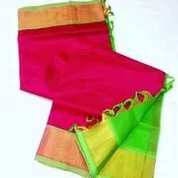 kuppadam plain sarees with blouse