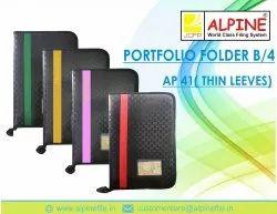 Black Portfolio File Folder