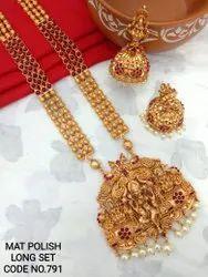 Matte Finish Temple Jewellery