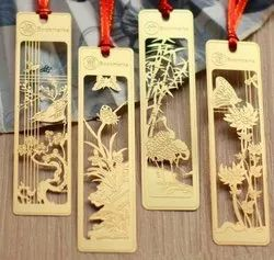 Metallic Steel Brass Copper Metal Bookmarks, For Tags Bookmark