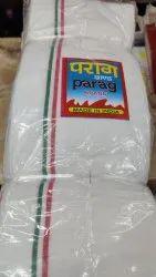 Cotton White Gamcha, Size: 1.70 Metres