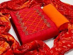 Fancy Silk Heavy Dress Material