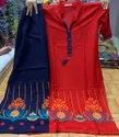 Rayon Kurti With Embroidery Work Plazo