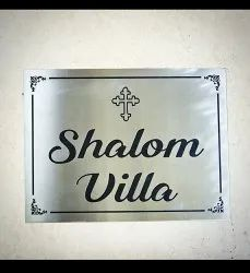 Stainless Steel Etching Name Board