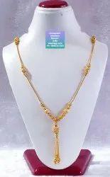 CIJ Golden Gold Vertical Beads Necklace Or Dokiya, Box
