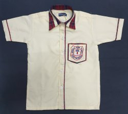 Valji & Mafatlal Cotton School Uniform Shirt, Size: 22-44