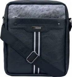Black Exclusive Leather Messenger Bag