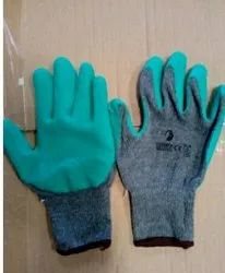 Latex Midas Cut Resistant Hand Gloves, For Industrial, Model Name/Number: Grey Green