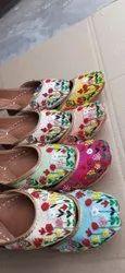 Embroidered Multicolor Ladies Zari Work Mojari Jutti, Size: 36 To 41