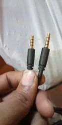 One Meter White Aux Cable