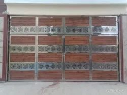 Stainless Steel Wooden Hinged Gates