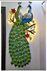Arihant Enterprises Decoration LED Peacock Artifacts, Size: 22x14 Inch