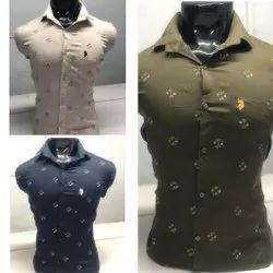 Raj Collection Collar Neck Casual Men Printed Shirt, Size: M to XL