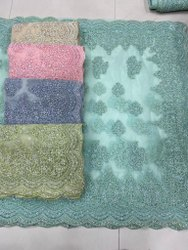 Havy Embroidery Stone Work Saree
