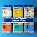 Epson Lk-5wbn 18mm Black On White Label Tape