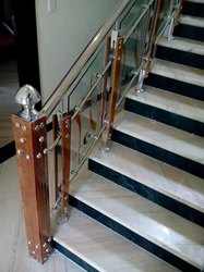 SSM45 Stainless Steel Glass Stair Railing
