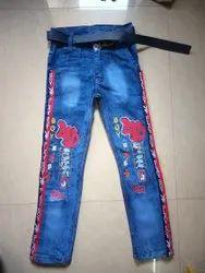 Denim Party Wear Kids Funky Jeans, Handwash