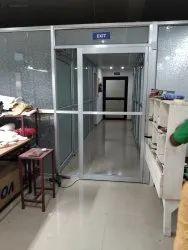 Powder Coated 8x3 Feet Aluminium Glass Doors