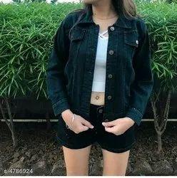 Denim Regular Wear Girls Jacket, Size: 34, Age Group: 12-30