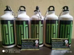White Printed Promotional water bottle, Size: Standard