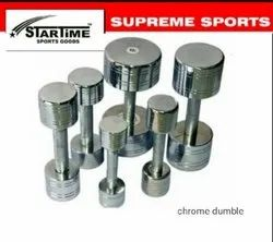 Fixed Weight Round Chrome Dumbbells