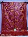 Tussar Ghicha Embroidery Work Sarees