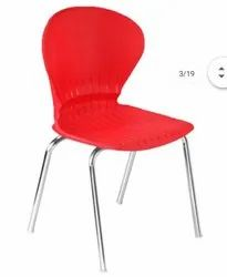Plastic Chair with Chrome Legs