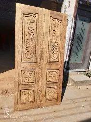 Interior Men carving design door, Size: 42*80